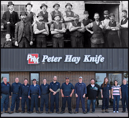Peter Hay Knife Team Then & Now